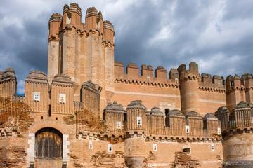 Coca Castle, Segovia Province, Castile-Leon (Spain)