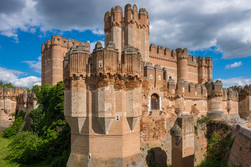 Fotobehang Kasteel Coca Castle, Segovia Province, Castile-Leon (Spain)