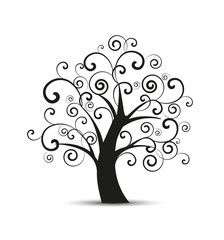 Vector silhouette tree