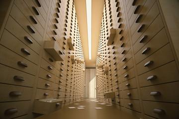 Retro archive interior