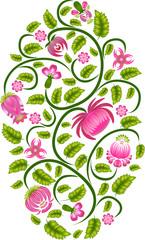 Ornamental floral design