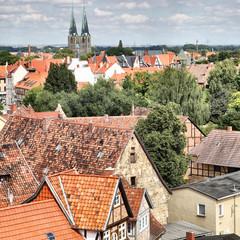 Wall Mural - Panoramic view of Quedlinburg