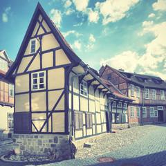 Wall Mural - Old street in Quedlinburg