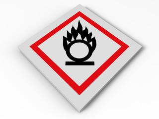 Oxidizing sign illustration