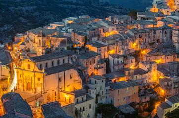 Sicily, Italy: aerial view of Ragusa Ibla