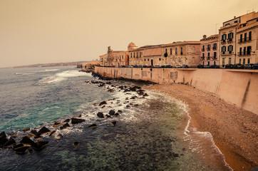 Sicily, Italy: Mediterranean coast of Syracuse