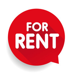 For Rent sticker vector