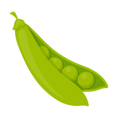 Peas icon cartoon. Singe vegetables icon from the eco food set.