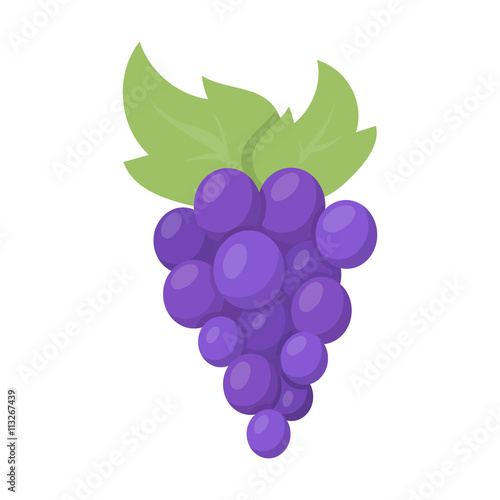 Fototapete Grapes icon cartoon. Singe fruit icon from the food set.