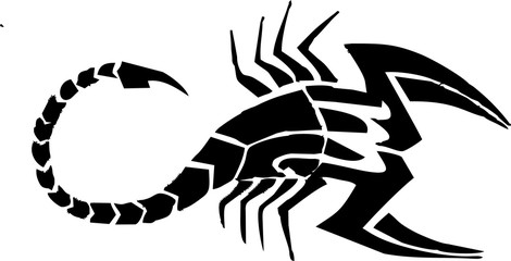 flat scorpion tattoo