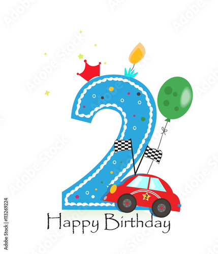 """""""Happy Fifth Birthday Candle. Baby Boy Greeting Card With"""