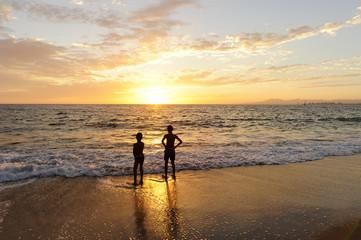 Boys Beach Sunset