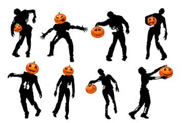 halloweeen pumpkin silhouette