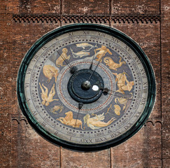 Astronomical clock on the Torrazzo tower, Cremona, Italy