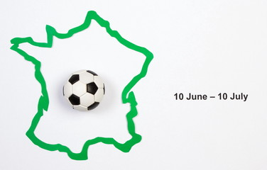 Soccer ball and contour France