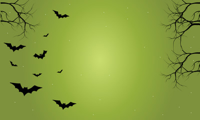 Halloween bat with green backgrounds