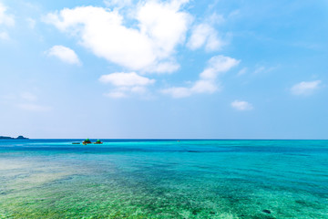 Sea, sky, landscape. Okinawa, Japan, Asia.