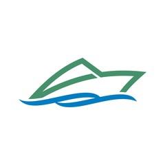 Sailing Boat vector icon symbol yacht