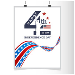 independence day 4 th july. Happy independence day poster template