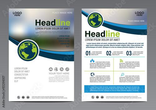 green eco annual report brochure flyer design template vector