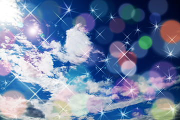 青空と雲と光