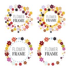 Set of flower frames.