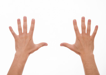 Two male hands