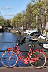 Deurstickers Fiets Herengracht in Amsterdam