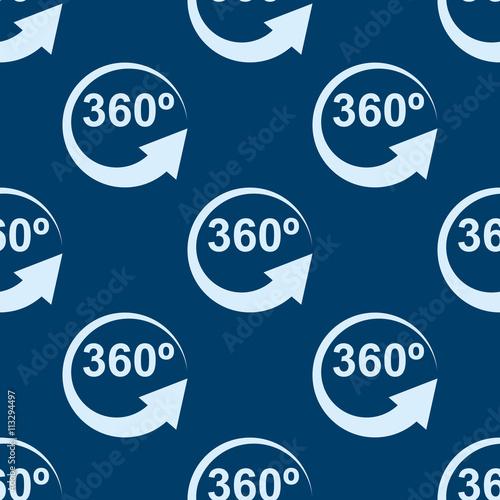 Icono plano patr n con 360 grados sobre fondo azul oscuro for Fondo azul oscuro
