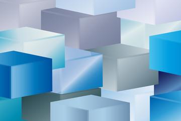 Fototapeta Hintergrund - Würfel - 3D obraz