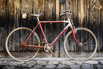 old and aged bicycle