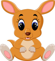 Cute kangaroo cartoon
