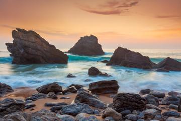 Foto auf Gartenposter Beige Ocean Landscape at beautiful Sundown