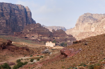 View of the centre, Petra, UNESCO World Heritage Site, Jordan, Middle East