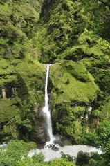 Chyamche Falls, Marsyangdi River Valley, Annapurna Conservation Area, Gandaki, Western Region (Pashchimanchal), Nepal, Asia