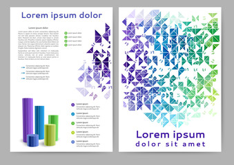 Abstract colored brochure template