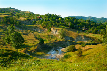 landscape from romanian countryside