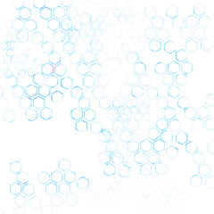 geometric Hexagon abstract vector background