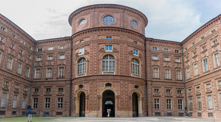 Panorama of back of The Museo Egizio which  is a  museum in Turin, Italy