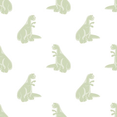 Seamless background. Cute dinosaurs