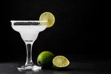 Margarita cocktail on slate background