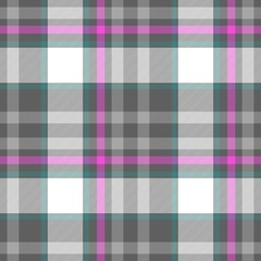 check diamond tartan plaid fabric seamless pattern texture background - gray, pink, white and blue colored