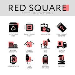 Red Square Set 20