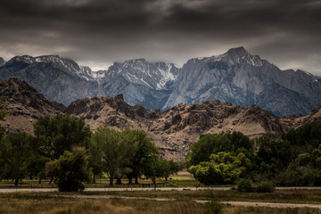 View of Mt. Whitney from Lone Pine, California