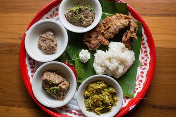 Lanna food set, northern of Thailand