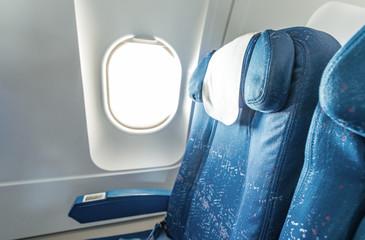 Window seat on a modern airplane