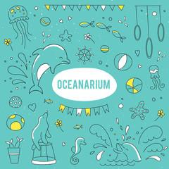 Oceanarium set of elements