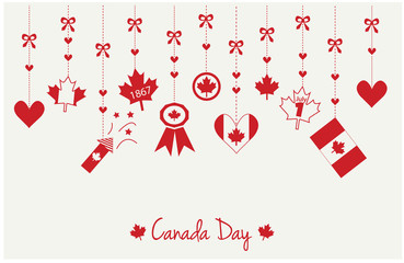 Canada day greeting card or background. vector illustration.