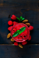 Smoothie with berries