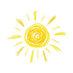 Sun doodle illustration